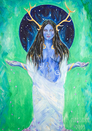 Goddess of the Starways Print