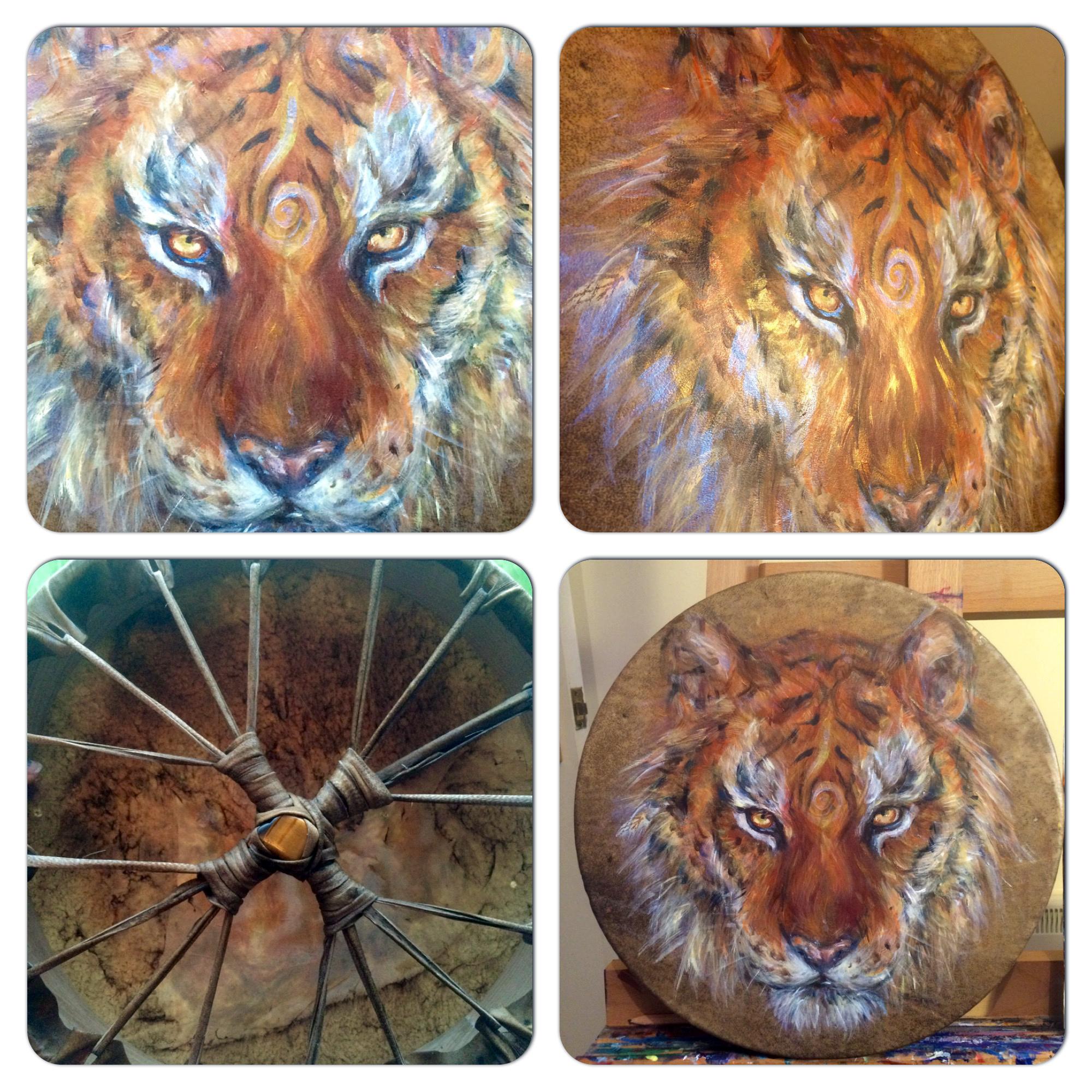 "12"" Tiger Drum"