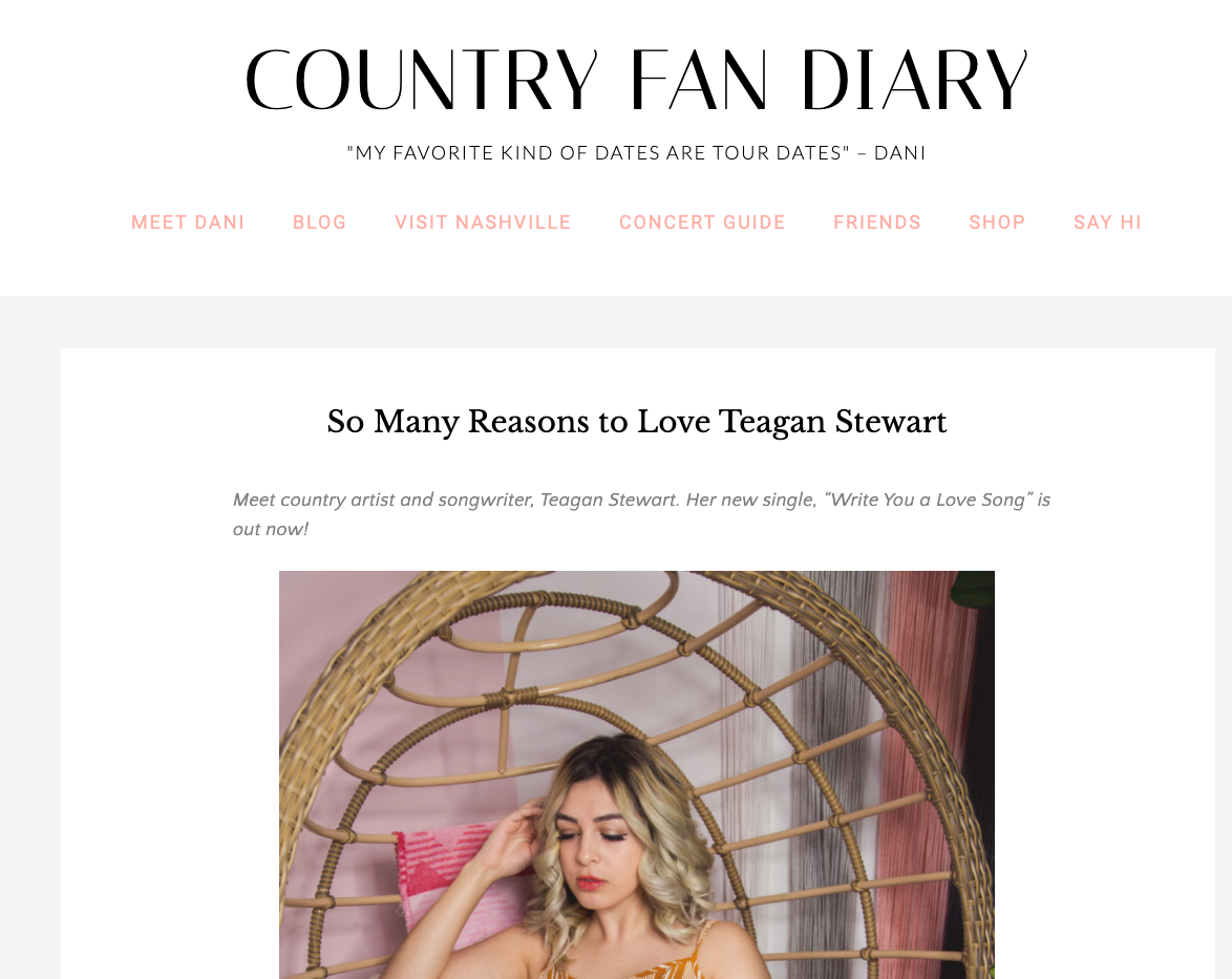 Country Fan Diary Feature