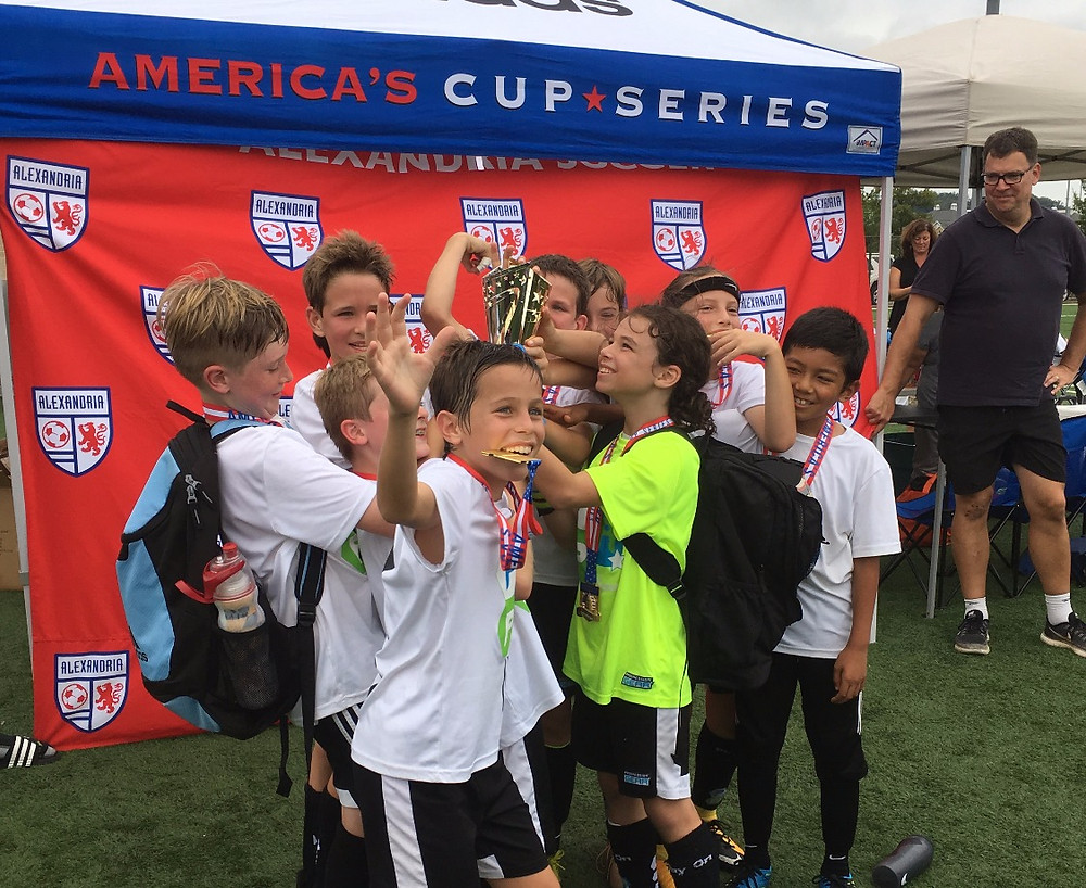 The 2007 Boys celebrating after getting their 1st place medals and trophy
