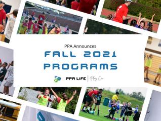 PPA Announces Fall 2021 Programming