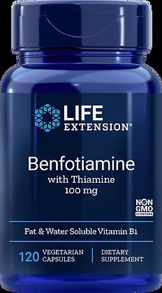 Benfotiamine with Thiamine, 100 mg, 120 veg caps