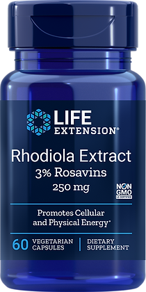 Rhodiola Extract, 250 mg, 60 veg caps