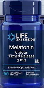 Melatonin 6 Hour Timed Release, 3 mg, 60 tabs