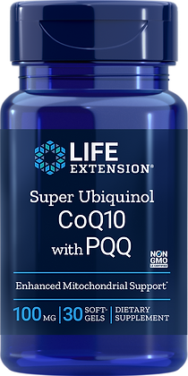 Super Ubiquinol CoQ10 with PQQ,  100 mg, 30 softgels