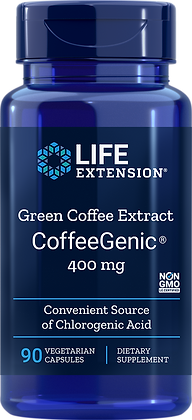 CoffeeGenic Green Coffee Extract, 400 mg, 90 veg caps