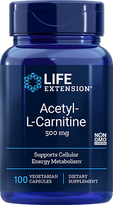 Acetyl-L-Carnitine, 500 mg, 100 veg caps