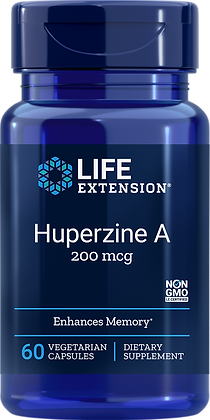Huperzine A,  200 mcg, 60 veg caps