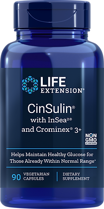 CinSulin with InSea2 and Crominex 3+,  90 veg caps