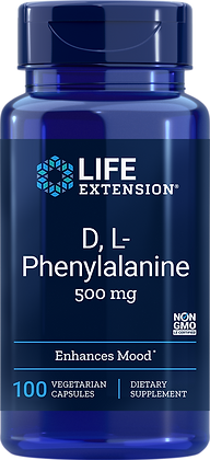 D, L-Phenylalanine Capsules, 500 mg, 100 caps