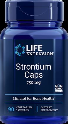 Strontium Caps,  750 mg, 90 veg caps
