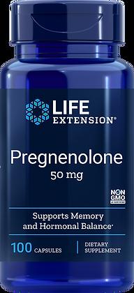 Pregnenolone, 50 mg, 100 caps