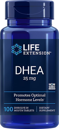 DHEA, 25 mg, 100 Dissolve in Mouth Tabs