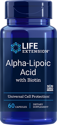 Alpha-Lipoic Acid with Biotin, 250 mg, 60 caps
