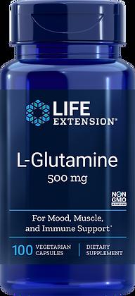 L-Glutamine, 500 mg, 100 veg caps