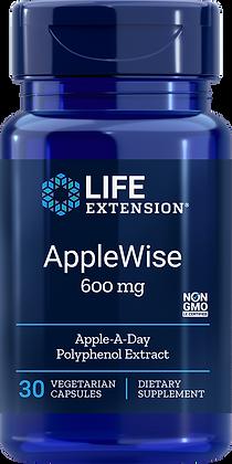 AppleWise, 600 mg, 30 veg caps