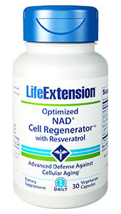 Optimized NAD+ Cell Regenerator with Resveratrol, 30 veg caps