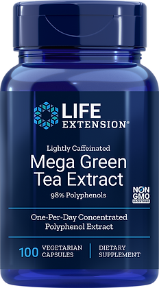 Mega Green Tea Extract, Lightly Caffeinated, 100 veg caps