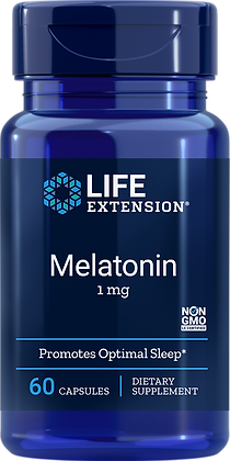 Melatonin, 1 mg, 60 capules