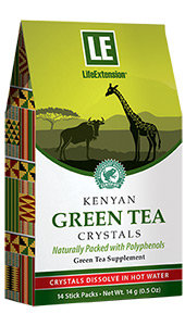 Kenyan Green Tea Crystals, 14 stick packs (14 g)