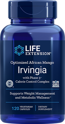 Optimized African Mango Irvingia with Phase 3™ Calorie Control Complex | 120caps