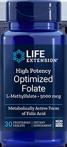 High Potency Optimized Folate  |  5000 mcg, 30 tabs