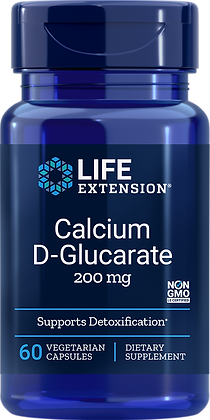 Calcium D-Glucarate, 200 mg, 60 caps
