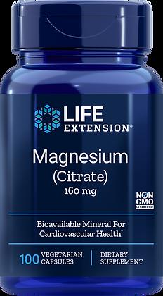 Magnesium (Citrate), 160 mg, 100 caps