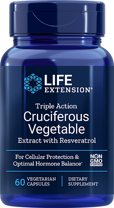 Triple Action Cruciferous Vegetable Extract w/ Resveratrol, 60 veg caps