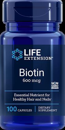 Biotin, 600 mcg, 100 caps