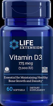 Vitamin D3,  7,000 IU, 60 softgels