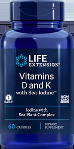 Vitamins D and K with Sea-Iodine