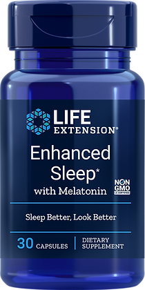Enhanced Sleep with Melatonin, 30 caps
