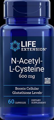 N-Acetyl-L-Cysteine, 600 mg, 60 veg caps
