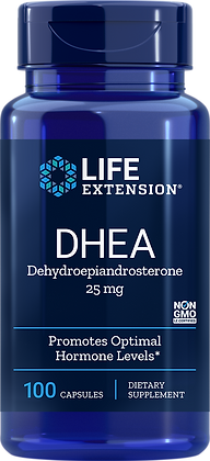 DHEA, 25 mg, 100 caps