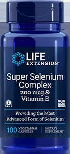 Super Selenium Complex, 200 mcg & Vitamin E