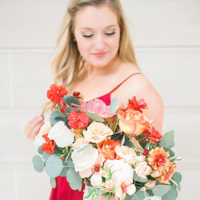 Red Truck Flowers Bouquet