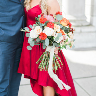 Red Truck Flowers Bouquet