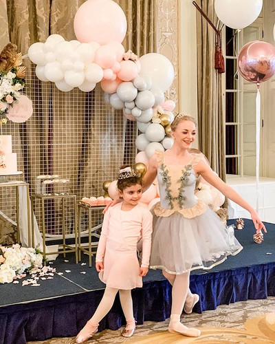 A real life Ballerina at the party! Oh t