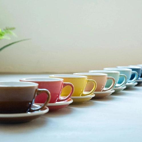 Loveramics Egg 200ml Cappuccino Cup & Saucer (Potter Colours)