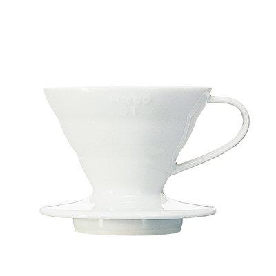 Hario V60 Coffee Dripper 01 - Ceramic (White)