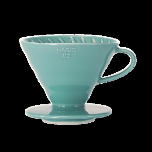 Hario V60 Coffee Dripper 02 - Ceramic (Turquoise Green))