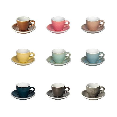 Loveramics Egg 80ml Espresso Cup Saucer (Potter Colours)