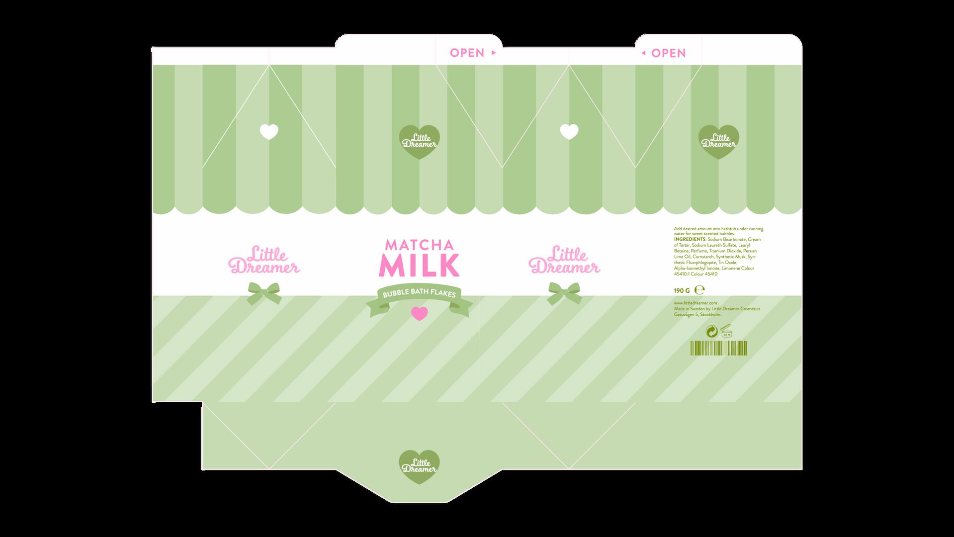 Matcha Milk Dieline