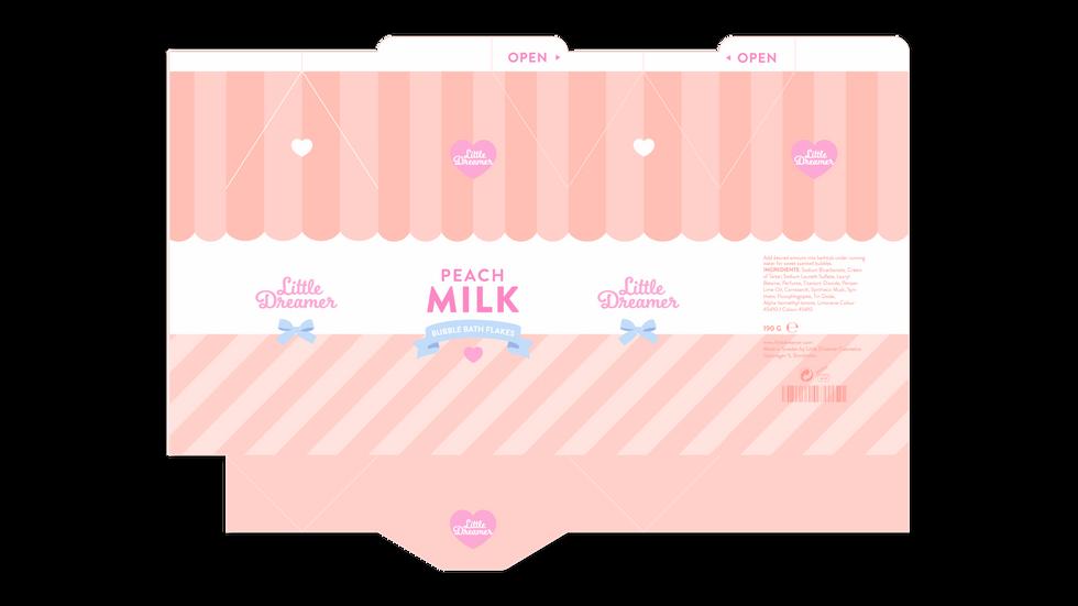 Peach Milk Dieline