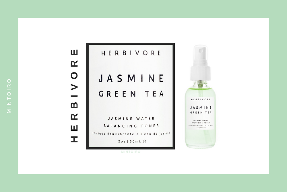 closeup of label from herbivore cosmetics with sans serif font, Mintoiro, branding, webdesign, webbyrå