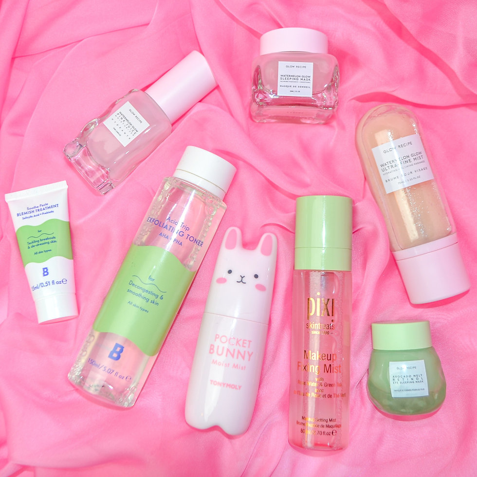 photo of various cute skincare products