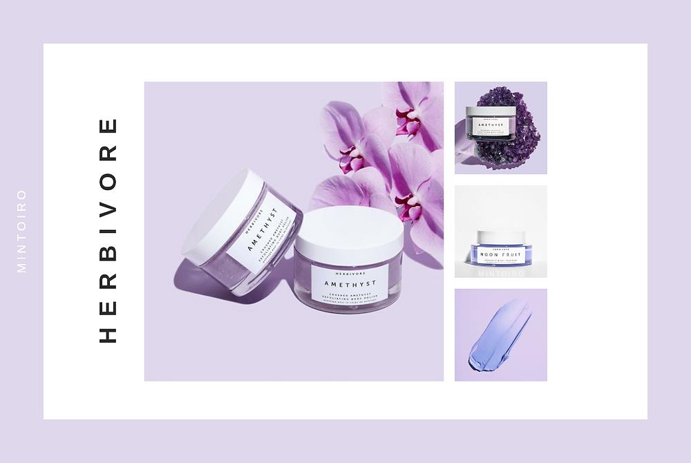 lavender cosmetics from herbivore, Mintoiro, branding, webdesign, webbyrå