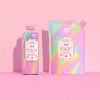 Bodywash and refill pouch 3D Rendering