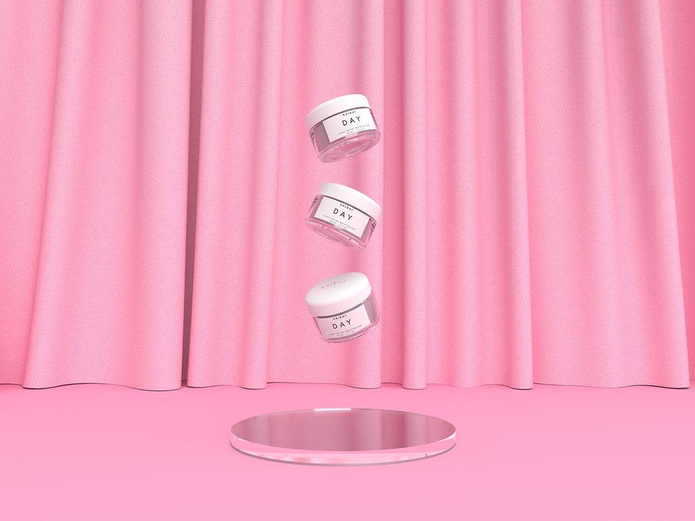 moisturizer jars with a minimalist design